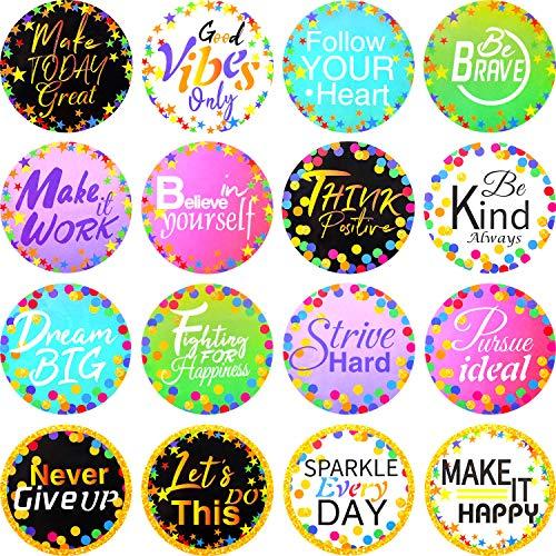 160 Pieces Confetti Positive Sayings Accents Confetti Accents Removable Confetti Stickers for Classroom Bulletin Board Decoration (Multi-Color, 8 cm)