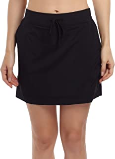 WESTECHO Women's Active Running Tennis Golf Workout Skorts Lightweight Athletic Performance Skort Sports Skirt