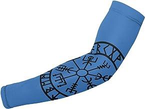 BJAMAJ Viking Runes Symbool UV Bescherming Koeling Arm Mouwen Arm Cover Zon Bescherming Voor Mannen & Vrouwen Jeugd Presta...