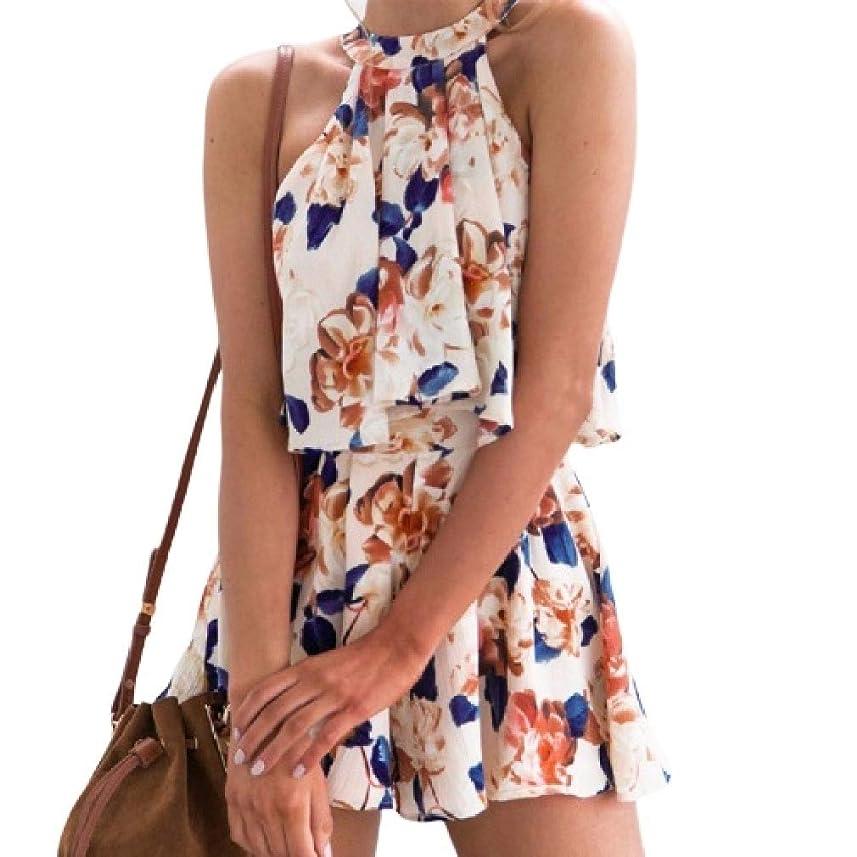マニアックポータブル遅らせるVITryst 女性オフショルダーフローラルブラウスシャツラウンジショートパンツ衣装2セット