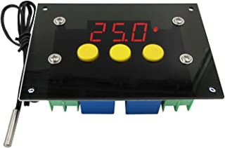 NOYITO 2-Channel Automatic Thermostat Controller -50℃ to +110℃ Hot-Cold Automatic Switch Adjustable Temperature High-Low Temperature Alarm 10A Relay Output NTC10K Waterproof Probe (DC 12V)