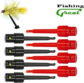 Greatfishing Long Tip Hackle Pliers, Fly Hook Hackle Pliers, Flies Lures Or Hooks Display, Feather Clips Rapping Hackle Tools for Fly Fishing Nymph Flies