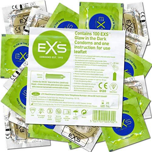 EXS Glow in the Dark Condoms - 100 Leuchtkondome - leuchten im Dunkeln