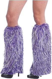 Orlob Handelsgesellschaft Monster Stulpen lila Stiefelstulpen Fellstulpen Monsterkostüm Hippie Fasching