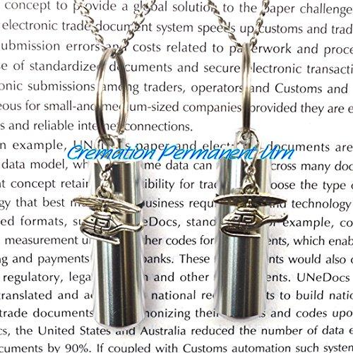 Halskette mit Urnen-Anhänger im Flugzeug-Design