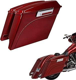 "Sponsored Ad - TCT-MT 5"" Stretched Extended Saddlebags Lids Latch Key Fits For Harley Touring Road King FLT FLHT FLHTCU FL... photo"