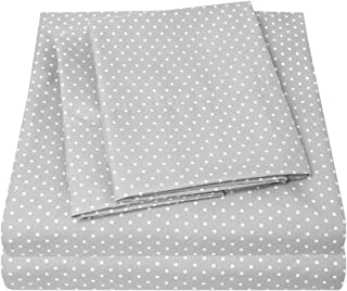 1500 Supreme Collection Bed Sheets - Luxury Bed Sheet Set with Deep Pocket Wrinkle Free Hypoallergenic Bedding - 4 Piece Sheets - Polka DOT Print- Queen, Gray