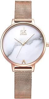 SHENGKE Creative Simplicity Women Watch Mesh Band Elegant Women Watches Ladies Business Wristwatch