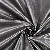 Fabulous Fabrics Satin anthrazit, Uni, 148cm breit –