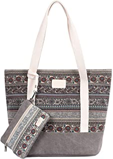 Bageek Ladies Tote Bag Bohemian Retro Hand Bag Shoulder Bag with Small Pouch for Party