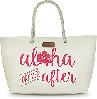 Rope Handle Beach Tote Bag Aloha Forever After