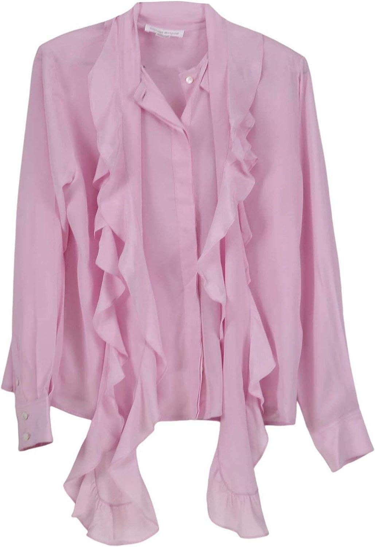 Victoria Beckham Women's Frill Panel Vintage Blouse Casual Button-Down Shirt