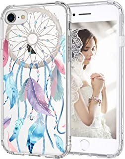 MOSNOVO iPhone 8 Case, iPhone 7 Case, Dream Catcher Clear Design Printed Transparent Hard Back Case with TPU Bumper Protective Case Cover for iPhone 7 / iPhone 8