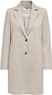 Only Onlcarrie Life Mel Coat Otw Noos Abrigo de mezcla de lana para Mujer