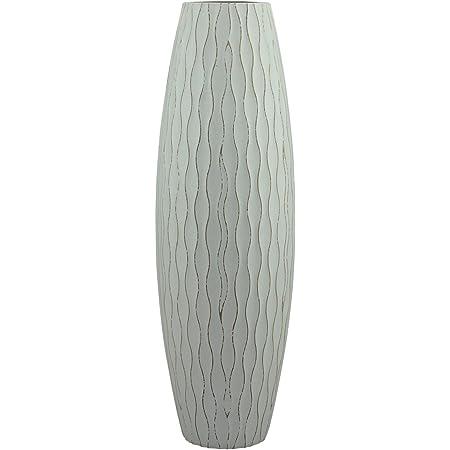 Stonebriar SB-5076C Beach Nostalgia Large Weathered Pale Ocean Wood Vase, Light Blue
