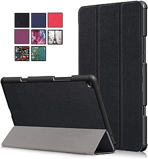 DETUOSI XiaoMi Mi Pad 4 Plus 10.1 Case, Three Folding Folio Stand Case Cover Pu Leather Protective Shell for XiaoMi Mi Pad 4 Plus 10.1 Inch Tablet,Black
