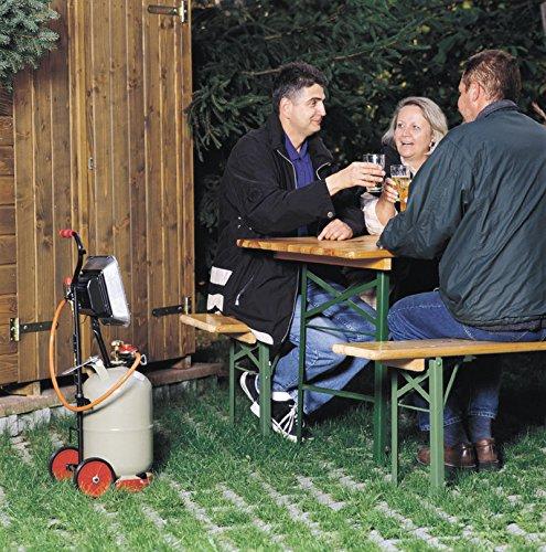 Rothenberger IndustrialHeiz – Strahler – VERSION DEUTSCHLAND – Gasheizstrahler mit Piezo Zündung, betrieben mit Propan – Gas für 5 kg oder 11 kg Flaschen - 2