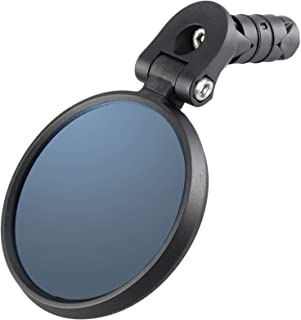 Venzo Bicycle Bike Accessories Handlebar End Mount Mirror Blue Lens 75%/Silver Lens 50% Anti-Glare Glass - Great for Road or Mountain Rear View (Left, Right or Pair)