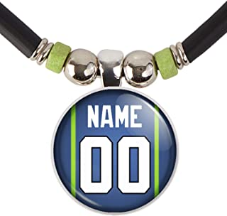 Customized Seattle Football Jersey Necklace with Your Name and Number, By SpotlightJewels