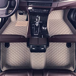 8X-SPEED Custom Car Floor Mats Fit for Audi A6 2007-2018 Avant Full Coverage All Weather Protection Waterproof Non-Slip Leather Liner Set Gray