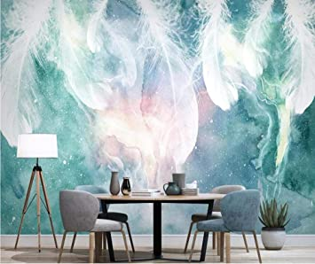 Nordic Abstract Feather Wallpaper Mural Wall Mural Painting Living Room Wall Art Home Decor Hd Prints Textured Wallpaper 150cm 105cm Amazon Com