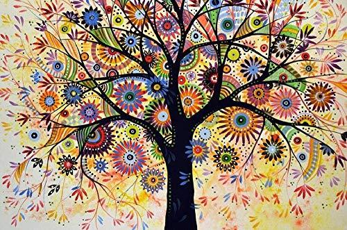 Rompecabezas De Madera 1000 Piezas Para Niños Y Adultos. Colorido Árbol De La Vida Puzzle Juego Feliz Familia Ocio Entretenimiento Decoración Regalo De Cumpleaños