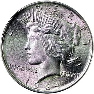 1924 S Peace Silver Dollar Uncirculated Rare MS/BU Semi-Key Date US Coin $1