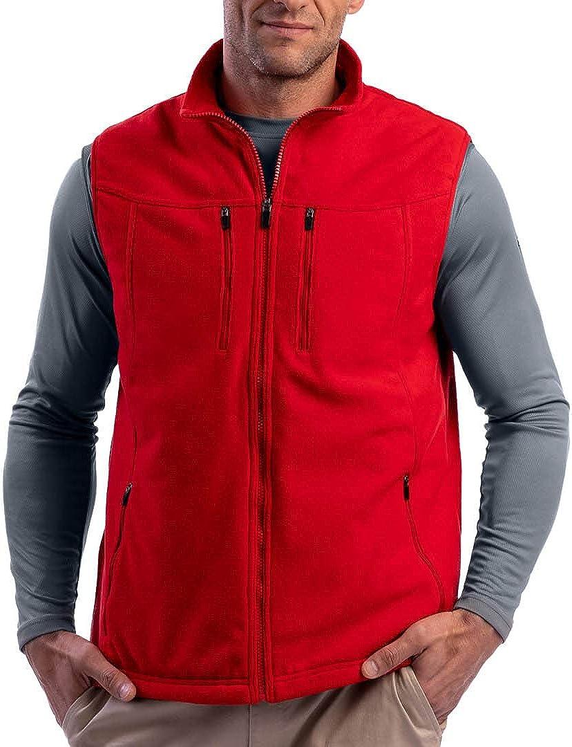 SCOTTeVEST Men's Fireside Fleece Travel Vest   15 Pockets   Anti-Pickpocket