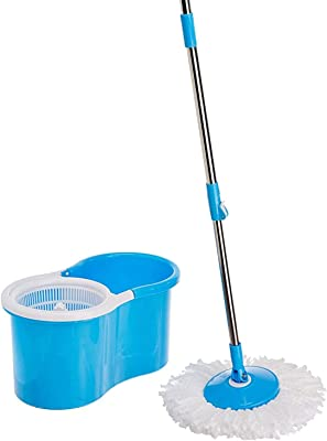 Spartan 360 Degree Spin Plastic Mop with Auto Fold Handle for Cleaning (Color Assorted)