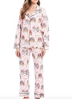 BedHead Christmas in The City Classic Knit Pajamas, XL Pink