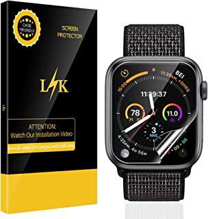 [6 Pack] LK for Apple Watch Series 5 / Series 4 Screen Protector 40mm HD Clear Film Anti-Bubble With Lifetime Replacement Warranty