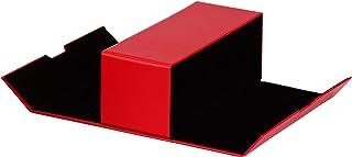 BiP Étui à lunettes pratique pour 2 lunettes avec un grand compartiment et fermeture magnétique (rouge).