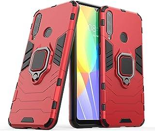 فان تينغ غطاء لجهاز هواوي Y6P صلب ومقاوم للصدمات مع حامل هاتف محمول ، غطاء هواوي Y6p- Huawei Y6p Huawei Y6p