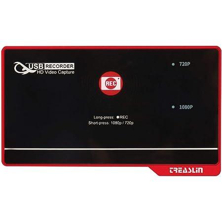 TreasLin キャプチャーボード PC不要 HDMI録画機ゲームキャプチャーボード パソコン不要 ビデオ/TV/テレビ/ゲーム録画 tv録画機 テレビ usb 録画 フルHD USBメモリ/SD/HDD保存 HSV326