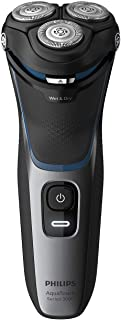 Philips Shaver Series 3000 Wet and Dry Cordless Electric Shaver with ComfortCut Blade System, 5-Direction Pivot & Flex Heads and Pop-up Trimmer, Shiny Black, S3122/51