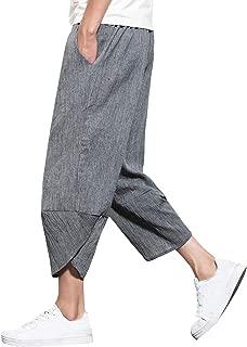 サルエルパンツ メンズ ハーフパンツ ズボン ショートパンツ 袴パンツ 7分丈 夏ズボン カジュアルパンツ 無地 JIAYBL