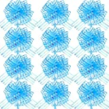 12 Piezas Lazo de Tirar de Organza Grande Lazo de Envolver Regalo con Cinta para Boda Regalo Cesta, 6 Pulgadas de Diámetros(Azul Claro)