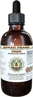 Neem Alcohol-Free Liquid Extract, Organic Neem (Azadirachta Indica) Dried Leaf Glycerite 2 oz