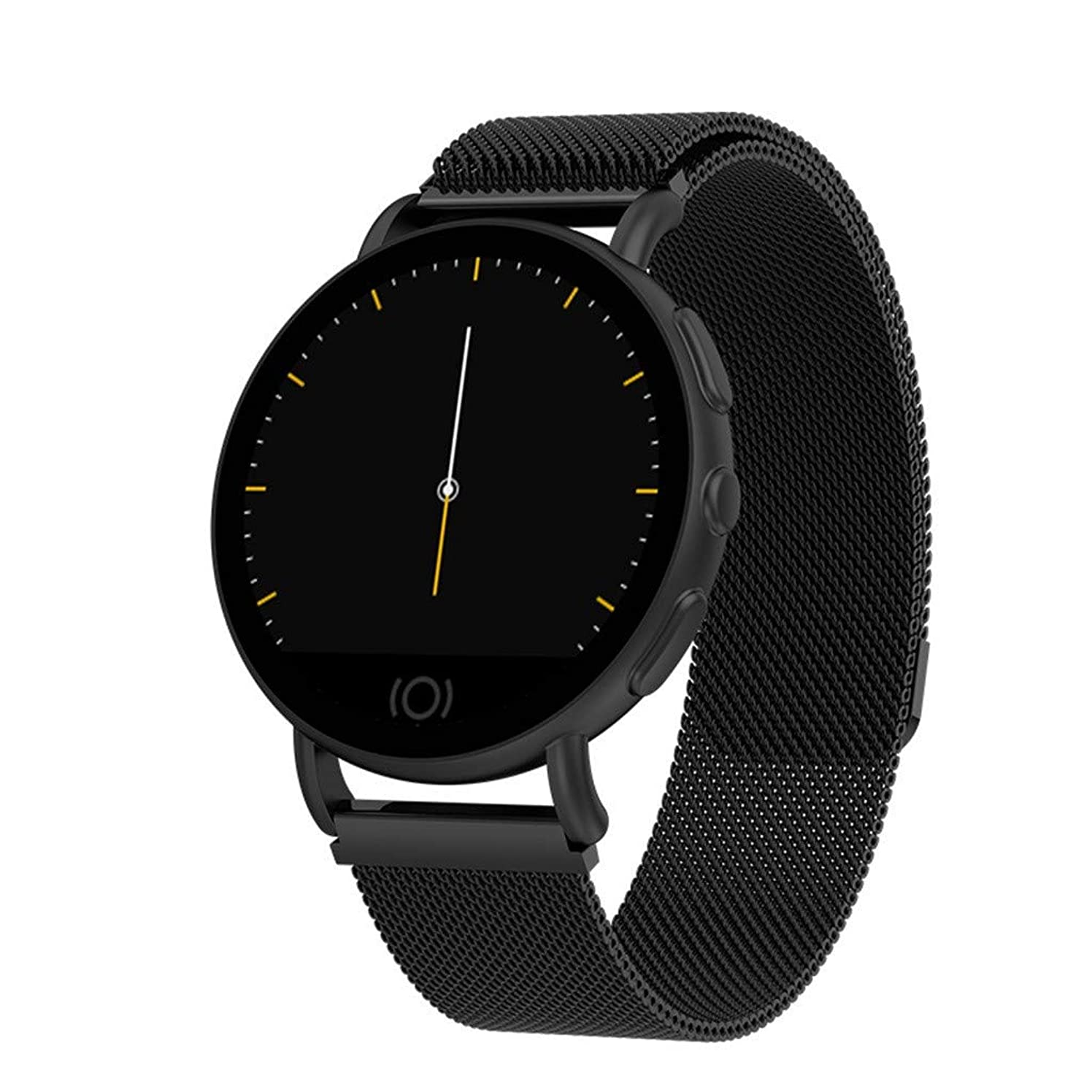 T7 Women Men Blood Pressure Heart Rate Monitor Sport Bluetooth Smart Watch Space Black Aluminum Case with Nylon Sport Band