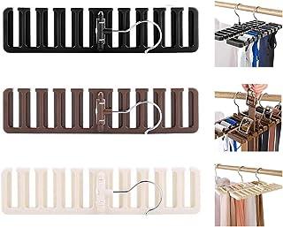 Biluer Armadio Portacinture Portacravatte Organizzatore Armadio Salvaspazio per Alloggiare nell'Armadio Cravatte Cinture S...