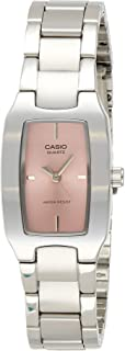 Casio Dress Analog Display Quartz Watch For Women Ltp-1165A-4C, Silver Band