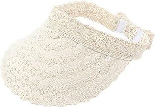 Dames grote brede rand zomer UV-bescherming strandmuts, dames holle kant lege top cap zonneklep hoeden