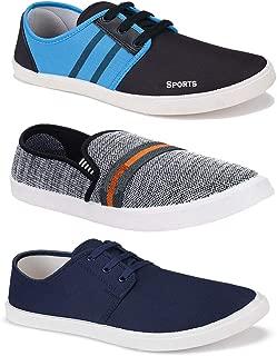 Bersache Men's Combo Pack of 3 Walking Shoes, Gym Shoes, Sports Shoes, Running Shoes, Sneakers Shoes, Loafers Shoes, Trekking Shoes, Light Weight Comfortable
