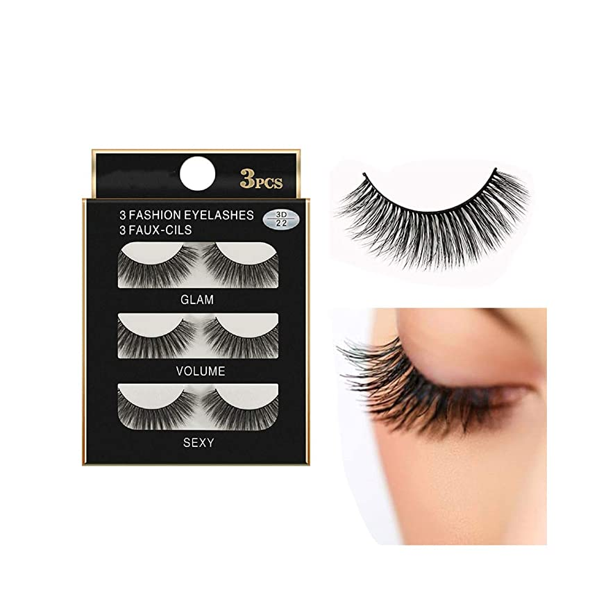 3 Pairs 3D Long False Eyelashes Makeup Natural Fake Thick Black Eye Lashes Natural Faux Mink Lashes Eyelashes Natural #05,As The Picture Shows,Brushed Chrome