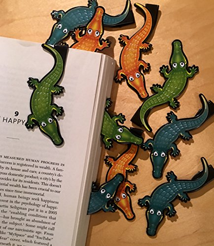 Alligator Bookmarks - 10 Bulk Bookmarks for Kids Girl's Boys- School Student Incentives – Library incentives – Reading Incentives - Party Favor Prizes - Classroom Reading Awards!