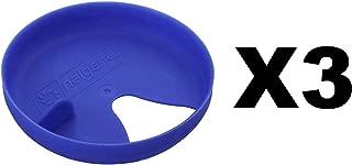 Nalgene Easy Sipper Blue Wide Mouth Water Bottle Splash Guard Insert (3-Pack)