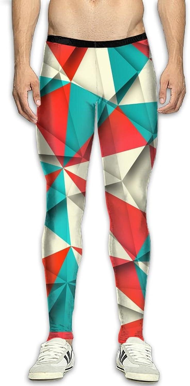 ASHVBG Men's Compression color Puzzle Pants Baselayer Running Tights 3D Print Fitness Sports Leggings