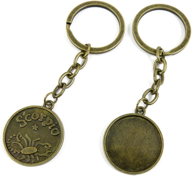 170 Pieces Fashion Jewelry Keyring Keychain Door Car Key Tag Ring Chain Supplier Supply Wholesale Bulk Lots P2QD8 Scorpio Cabochon Setting Base