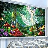Papel pintado adhesivo mural personalizado 3D bosque camino de setas pintura niños dormitorio papeles de pared-350 * 245 cm