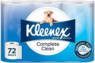 Kleenex Toilet Tissue Complete Clean Toilet Paper (Pack of 72)